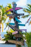 Rustic Sign Post. Made of Wood Stock Photos
