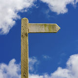 Rustic Signpost Clipped Stock Photo