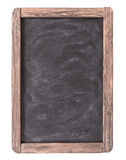 Rustic slate menu blackboard isolated Stock Image