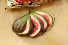 Rustic Sliced Fig Stock Image