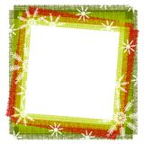 Rustic Snowflake Frame or Border 2 stock illustration