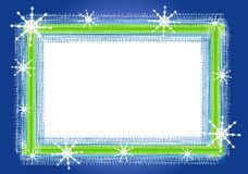 Rustic Snowflake Frame or Border Royalty Free Stock Image
