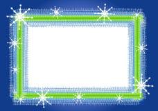 Rustic Snowflake Frame Or Border Royalty Free Stock Image
