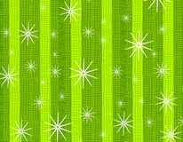 Rustic Snowflake Texture Green. A background illustration featuring retro snowflakes falling in green striped colors vector illustration