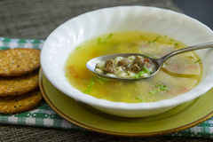 Rustic soup Stock Image