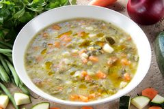 Rustic soup whit vegetables Stock Images