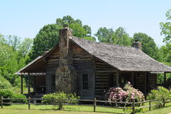 Rustic southern home. Nostalgic old southern sturdy looking wooden cabin Stock Image