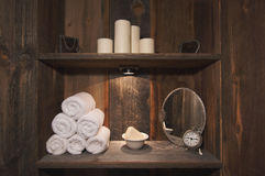 Rustic Spa Scene Royalty Free Stock Photos