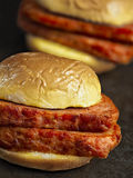 Rustic spiced ham luncheon meat sandwich Royalty Free Stock Photo