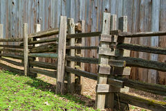 Rustic Split Rail Fence Stock Image