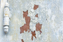 Rustic Srusty door with cracked paint Stock Images