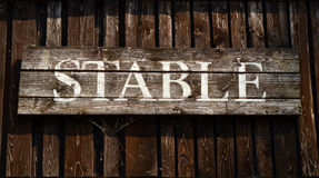 Rustic Stable Sign Royalty Free Stock Photography