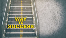 Rustic Stair way up to success. With copy space Stock Photo