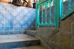 Rustic Stairs. Stairs in Rustic North African Building Stock Image