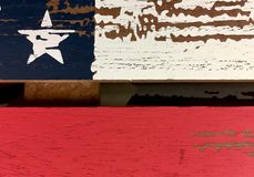 Rustic star and stripes Royalty Free Stock Image