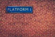 Rustic Station Platform Sign Royalty Free Stock Image