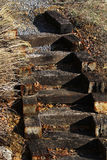 Rustic steps Royalty Free Stock Images