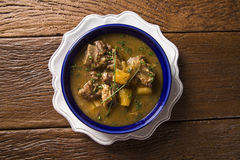 Rustic Stew meat with manioc called Vaca atolada in Brazil Royalty Free Stock Photo