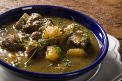 Rustic Stew meat with manioc called Vaca atolada in Brazil. Stock Images