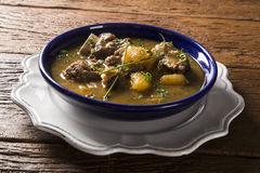 Rustic Stew meat with manioc called Vaca atolada in Brazil Royalty Free Stock Photos