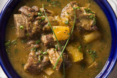 Rustic Stew meat with manioc called Vaca atolada in Brazil Royalty Free Stock Images