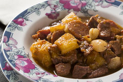 Rustic Stew meat with manioc, sausage and pinion - Entrevero wit Royalty Free Stock Photos