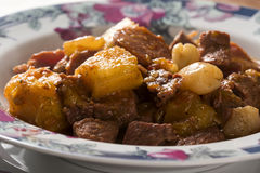 Rustic Stew meat with manioc, sausage and pinion - Entrevero wit Stock Photos