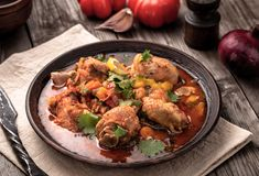 Rustic stewed chicken royalty free stock images
