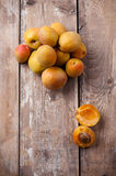 Rustic still life with apricots Royalty Free Stock Photography