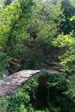Rustic stone bridge over a stream in Cinque Terre, Italy Stock Photography