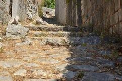 Rustic stone path. In a Mediterranean village Stock Photos
