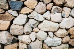 Rustic stone wall background. Detail stock image