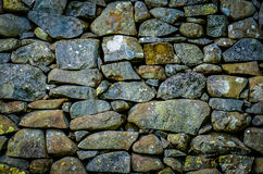 Rustic Stone Wall Texture Stock Photography