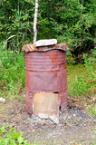 Rustic stove Royalty Free Stock Photo