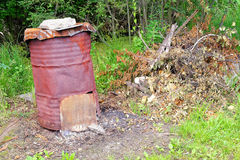 Rustic stove Stock Photo
