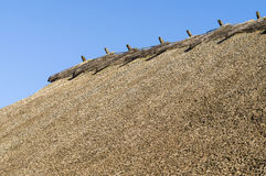 Rustic straw roof closeup. View royalty free stock photography