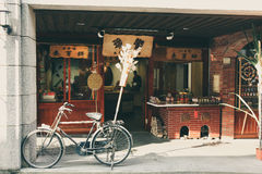 Rustic street side shop in Taiwan Royalty Free Stock Photos