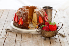 Rustic Style Bundt Cake Royalty Free Stock Photo