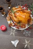Rustic Style Christmas Turkey stock photography