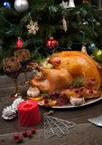 Rustic Style Christmas Turkey Royalty Free Stock Photos