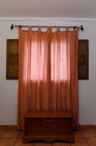 Rustic style curtains Stock Image