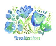 Rustic style floral hand drawn illustration. Royalty Free Stock Photo