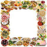 Rustic style food photo frame Stock Photography