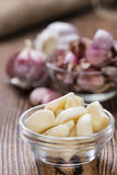 Rustic style Garlic Royalty Free Stock Photos