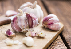 Rustic style Garlic Royalty Free Stock Images