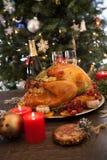 Rustic Style Christmas Turkey stock photography