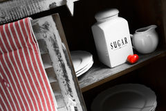 A rustic sugar containers Royalty Free Stock Photo