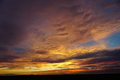 Rustic sunset. Rustic September across the Norfolk fens Stock Photography