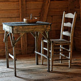 Rustic Table and Chair Royalty Free Stock Photo