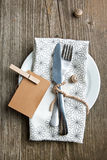 Rustic table setting Stock Photos